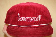 Vintage Ivomec-F Cattle Parasiticide Corduroy Red Snapback Baseball Cap Hat