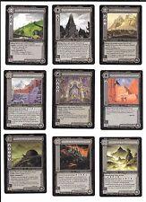 Lote 9 cartas SEÑOR DE LOS ANILLOS SDLA 1997 Lote 5/5  coleccion NM LOTR