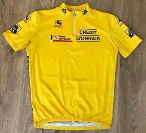 Credit Lyonnais Giordana Le Tour De France rare vintage cycling jersey size XXL