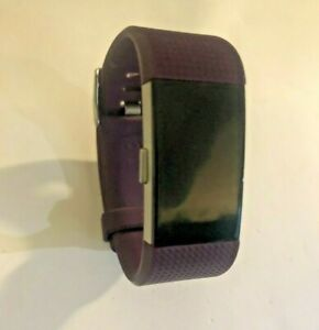 Fitbit Charge 2 Heart Rate Monitor Fitness Tracker FB407 Plum Small Watch Only