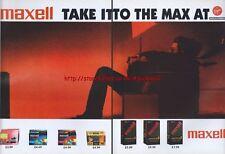 Maxell Tapes 1995  Magazine Advert #2324