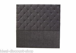 54 inch Floor Standing MARKET DESIGN Headboard in CHENILLE with Matching Buttons