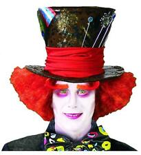 Madhatter Wig Crazy Red Orange Mad Hatter Mens Halloween Costume Accessory