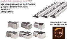 6,28€/M Viertelkreis V2A Fliesenprofil 250cm gebürstet Fliesenschiene Runfprofil