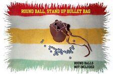 BLACK POWDER ROUND BALL  STAND UP BULLET BAG .32-62 CAL.