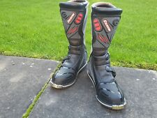 ExuStar mens Motocross Boots NEW Leather/Plastic Black/Grey UK 11 EUR 46