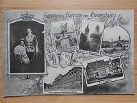 Postkarte Original Herzog und Herzogin von Braunschweig