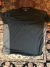 Fila Performance Shirt Moisture Wicking Training Tennis Workout Black Gray 2xl