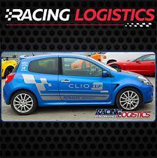 Clio CUP Franjas de carreras puerta MK3 Vinilo Adhesivo Pegatina rayas Renault