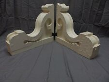 Antique Pr Wood Corbels Brackets Victorian Gingerbread Shabby Old Chic 262-18P