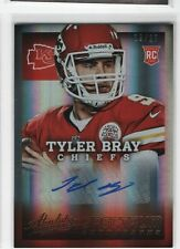 Tyler Bray 2013 Panini Absolute Spectrum Rookie RC Auto Autograph, Chiefs, /25