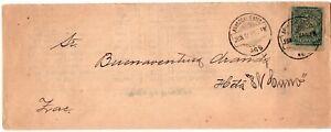 1898 Mexico 1c Aguascalientes Cover Folded Letter Sheet Advertisement