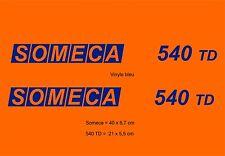 Kit stickers pour tracteur SOMECA 540 TD