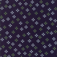 """MODA FABRIC """"THE FRONT PORCH"""" NAVY 37544 19 QUILTING SEWING 100% COTTON"""