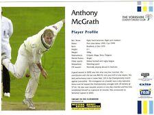 New listing ANTHONY McGRATH AUTOGRAPH,  CRICKET,  SPORT