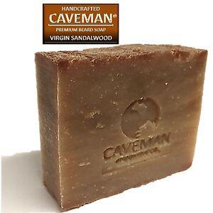 Original Handcrafted Beard and Body Soap by Caveman® (Virgin Sandalwood)