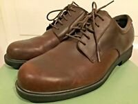 Men's Rockport Brown Distressed Style Leather Style loafers shoes  M9401