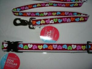 OLD NAVY DOG LEASH WITH COLLAR L Size Valentine day