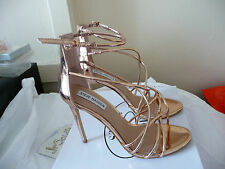 Steve Madden SATIRE Rose Gold High Heels Size 8.5 Strappy Sandals