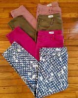 4 GAP Always Skinny Women's 16/33 Stretch Jeans Pink/Acid Wash Polka Dot/Purple