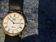 Longines Presence Mens wristwatch, Gold plated, Classic