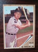 1962 Topps Set Break # 73 Nellie Fox CHICAGO WHITE SOX FREE SHIPPING