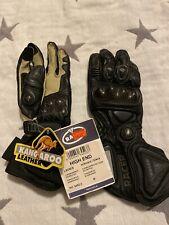 Ladies Racer High End Kangaroo Motorcycle Race Sports Track Gloves. Medium