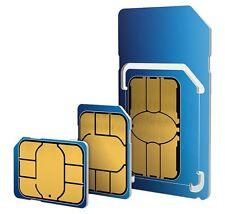 2 x O2 £10 Big Bundle Pay as you go SIM Card -Triple cut SIM Card