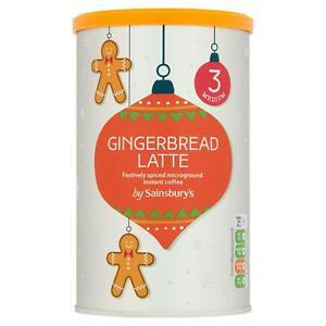 Sainsbury's Microground Gingerbread Latte Instant Coffee 126g NEW SHIP WORLDWIDE