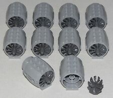 LEGO LOT OF 10 NEW GREY AIRPLANE PROPELLORS JET ENGINE PIECES PARTS