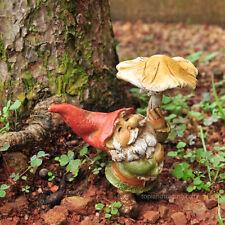 Miniature Garden Gnome with Mushroom Umbrella TO 4265 Fairy Garden