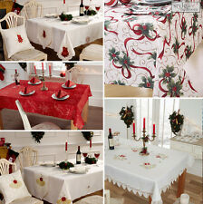 Xmas Christmas Luxury Embroidered Tablecloth and accessories