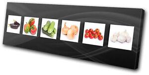 Food Kitchen Fresh Vegetable SINGLE CANVAS WALL ART Picture Print VA