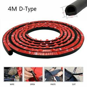 4M D Shape Car Door Seal Strip Boot Edge Protector Strips Trim Rubber Guards