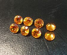 Synthetic Tangerine Quartz Round 6mm Lot 100 Pieces