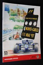 Program 1997 Monaco Grand Prix Formula 1 with 19 signatures (NA)
