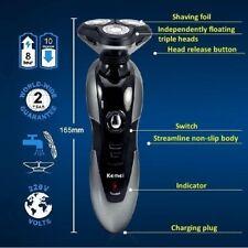 Rasoio elettrico da barba lavabile 3 testine rotanti ricaricabile cordless