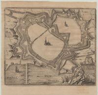 ZUTPHEN Zütphen Original Harrewyn Stadtansicht um 1700 Niederlande Gelderland