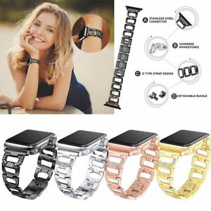 Bling Diamond Stainless Steel Bracelet Band Strap For AppleWatch Series 6 5 4 3