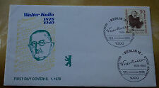 ERSTTAGSBRIEF FIRST DAY COVER FDC GERMANY  WALTER KOLLO COMPOSER 1878 1978 VGC