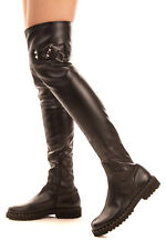 RRP €395 ERMANNO ERMANNO SCERVINO Over Knee Boots Size 38 UK 5 US 7.5 Studded