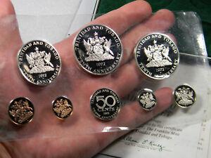 Tinidad & Tobago 1972 8 coin proof set