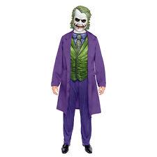 Adults Joker Fancy Dress Costume Halloween Mens Dark Knight Batman Book Day