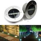 Solar Power LED lamp Stainless Steel In Ground Light Outdoor Garden Path Decking