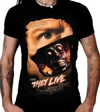 AUTHENTIC JOHN CARPENTER'S THEY LIVE OBEY MOVIE POSTER HORROR T TEE SHIRT S-2XL