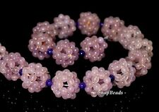 18MM CLUSTER AMETHYST GEMSTONE PURPLE CLUSTER ROUND 18MM LOOSE BEADS 7""
