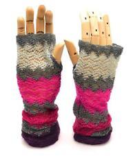 Winter Apt.9 Women Purple Gray Pink Forearm Warmer Glove Soft Shiny 1 size 8750