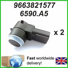 2 X Parking Sensor PDC PEUGEOT 307 308 407 RCZ Partner - 9663821577  6590A5
