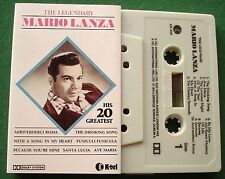 The Legendary Mario Lanza inc The Drinking Song + Cassette Tape - TESTED
