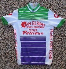 ANCIEN MAILLOT TOUR DE FRANCE VAN ELSUWE CYCLES PELLIEUX
